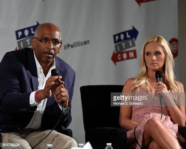 Michael Steele and Tomi Lahren at the 'Now What Republicans' panel during Politicon at Pasadena Convention Center on July 30 2017 in Pasadena...