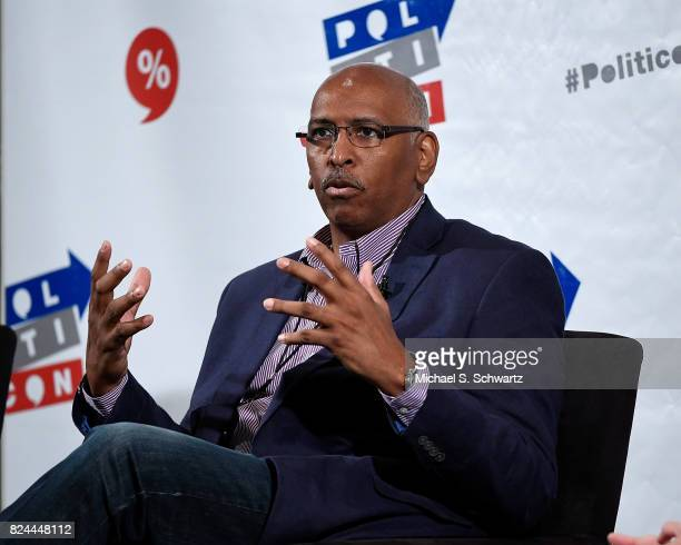 Michael Steele speaks during his appearance at Politicon 2017 at Pasadena Convention Center on July 29 2017 in Pasadena California