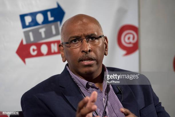Michael Steele speaks during Politicon at the Pasadena Convention Center in Pasadena California on July 29 2017 Politicon is a bipartisan convention...