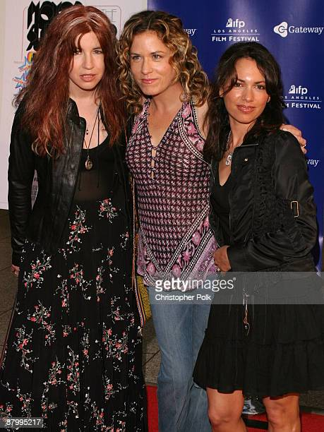 Michael Steele Vicki Peterson and Susanna Hoffs of The Bangles