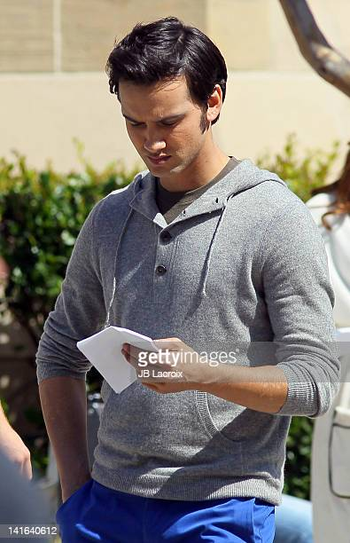 Michael Steger is seen on location for '90210' on March 20 2012 in Los Angeles California