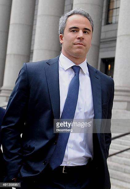 Michael Steinberg a former fund manager with SAC Capital Advisors LP exits federal court following a sentencing hearing in New York US on Friday May...