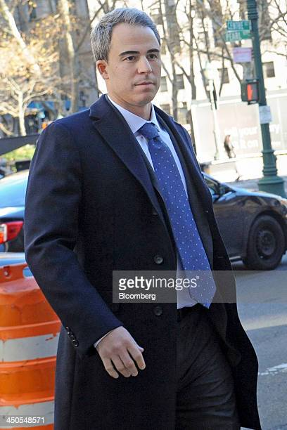 Michael Steinberg a portfolio manager with SAC Capital Advisors LP arrives at federal court in New York US on Tuesday Nov 19 2013 Assistant US...