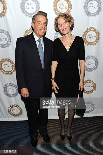 Michael Steinberg and Melissa James Gibson attend The 2011 Steinberg Playwright Mimi Awards presented by The Harold and Mimi Steinberg Charitable...