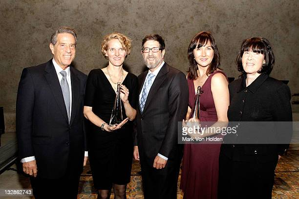 Michael Steinberg Melissa James Gibson James Steingberg Lisa D'Amour and Carole Krumland attend The 2011 Steinberg Playwright Mimi Awards presented...