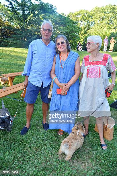 Michael Steinberg Susie Slesin and Barbara Toll attend LongHouse Reserve Presents Laurie Anderson's Concert For Dogs at LongHouse Reserve on August...