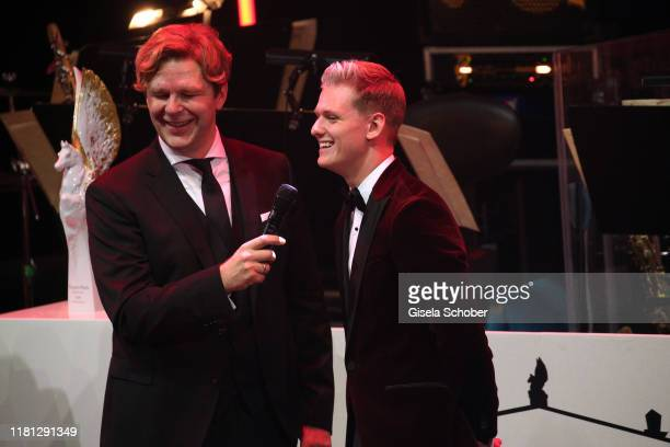 Michael Steinbrecher and Mick Schumacher during the German Sports Media Ball at Alte Oper on November 9 2019 in Frankfurt am Main Germany