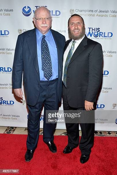 Michael Steinhardt and Rabbi Shmuley Boteach attends World Jewish Values Network second annual gala dinner on May 18 2014 in New York City