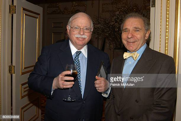 Michael Steinhardt and Roger Hertog attend Third Annual Atlantic Monthly State of the Union Dinner hosted by Boykin Curry and Mercedes Benz at The St...