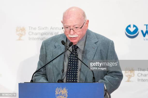 Michael Steinhardt speaking at the Champions of Jewish Values International Awards Gala in New York City