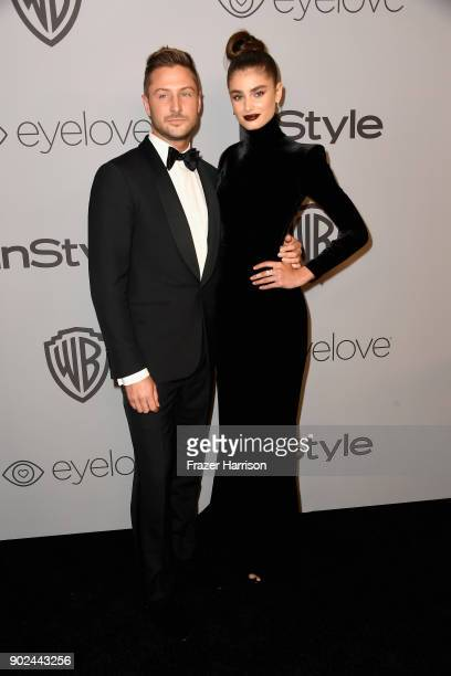 Michael Stephen Shank and model Taylor Hill attend 19th Annual PostGolden Globes Party hosted by Warner Bros Pictures and InStyle at The Beverly...