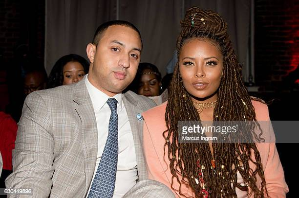 Michael Sterling and actress Eva Marcille attend the 9th Annual Celebration 4 A Cause Fashion Show at King Plow Arts Center on December 22 2016 in...