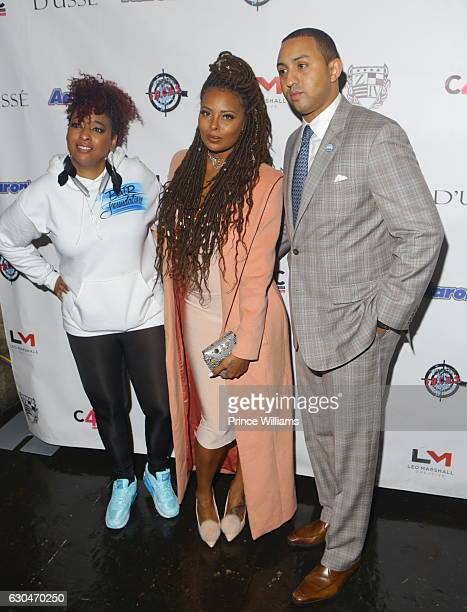 Michael Sterling and Eva Marcille attend the 9th Annual Celebration 4 Cause at King Plow Arts Center on December 22 2016 in Atlanta Georgia