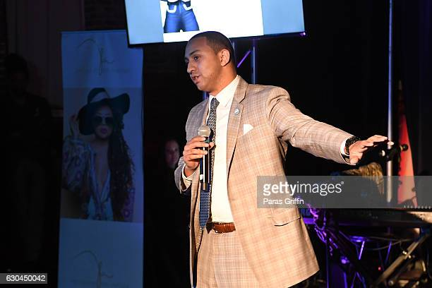 Michael Sterling speaks at the 9th Annual Celebration 4 A Cause Fashion Show at King Plow Arts Center on December 22 2016 in Atlanta Georgia