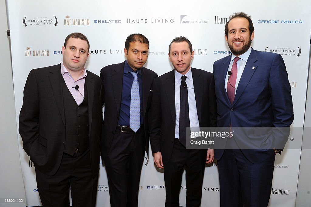 Michael Stern, Haute Living CEO Kamal Hotchandani, Scott Alper and Michael Rudin attend the Haute Living New York City Real Estate Summit on November 14, 2013 in New York City.