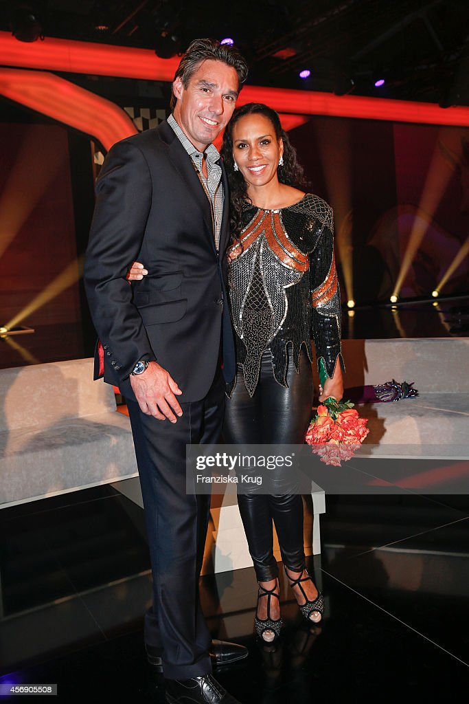 Michael Stich and Barbara Becker attend the Tribute To Bambi 2014 party on September 25, 2014 in Berlin, Germany.