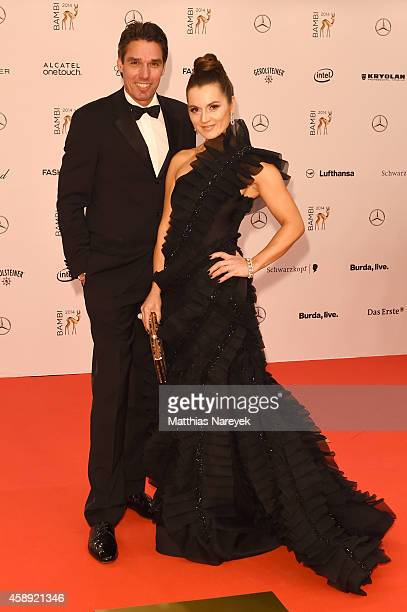 Michael Stich and his wife Alexandra arrive at the Bambi Awards 2014 on November 13 2014 in Berlin Germany