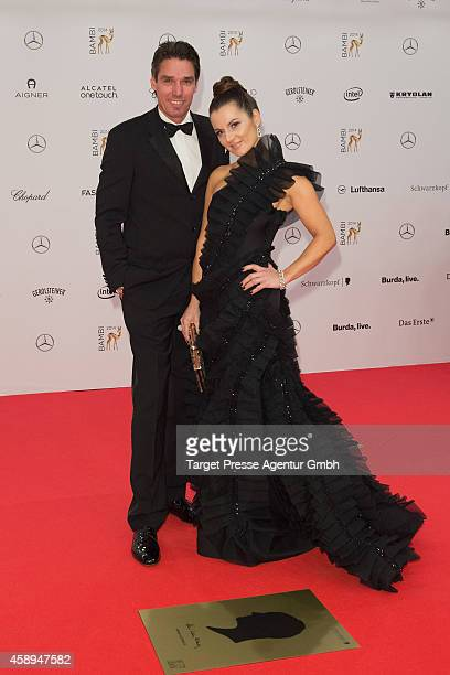 Michael Stich and his wife Alexandra attend the Bambi Awards 2014 on November 13 2014 in Berlin Germany