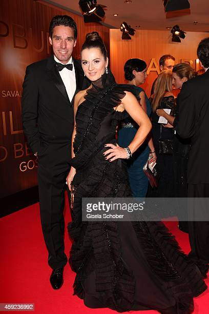 Michael Stich and his wife Alexandra during the Bambi Awards 2014 on November 13, 2014 in Berlin, Germany.