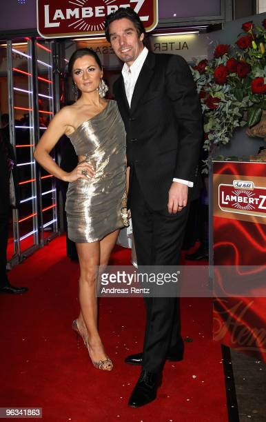 Michael Stich and his wife Alexandra Stich attend the Lambertz Monday Night Schoko Fashion party at the Alten Wartesaal on February 1 2010 in Cologne...
