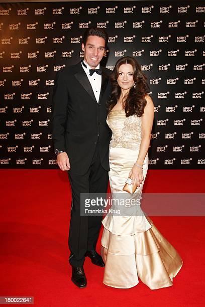Michael Stich Und Ehefrau Alexandra Bei Der Montblanc Charity Gala Und Weltpremiere Der Montblanc Prinz Rainier Iii Limited Edition 81 Hommage An...