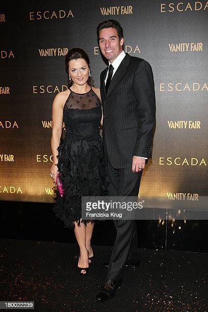 Michael Stich Und Ehefrau Alexandra Bei Der Party Zur Wiedereröffnung Des Flagstores Von Escada In Berlin Am 091107
