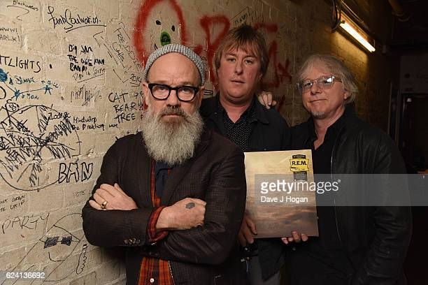 Michael Stipe and Mike Mills attend the 25th anniversary of REM's album 'Out Of Time' album at Borderline on November 18 2016 in London England