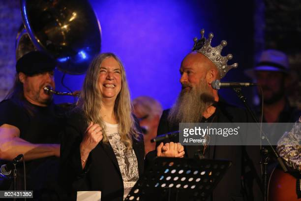 Michael Stipe and Patti Smith perform at Jesse Paris Smith's 30th Birthday Celebration at City Winery on June 27 2017 in New York City