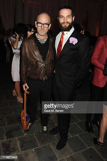 MANDATORY CREDIT PHOTO BY DAVE M BENETT/GETTY IMAGES REQUIRED Michael Stipe and Sandro Kopp attend the Istancool Gala Dinner at the Istancool...