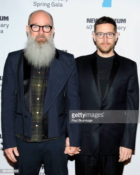 Michael Stipe and Thomas Dozol attend the New Museum 40th Anniversary Spring Gala at Cipriani Wall Street on April 4 2017 in New York City