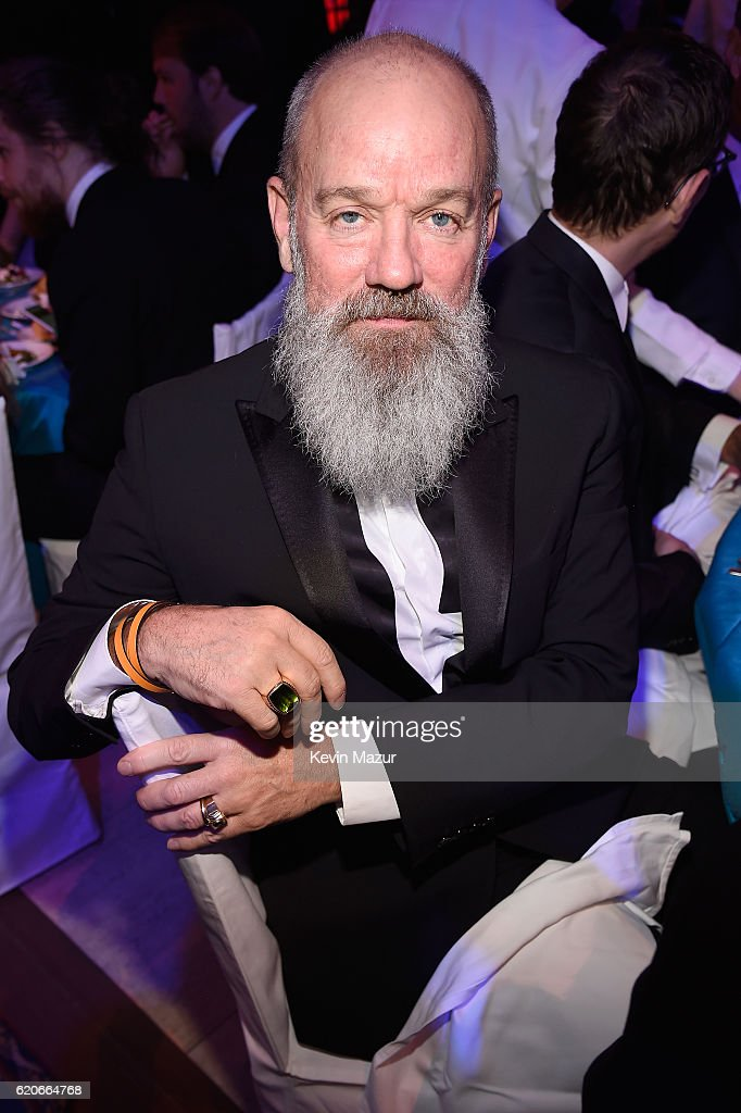 Michael Stipe attends 15th Annual Elton John AIDS Foundation An Enduring Vision Benefit at Cipriani Wall Street on November 2, 2016 in New York City.