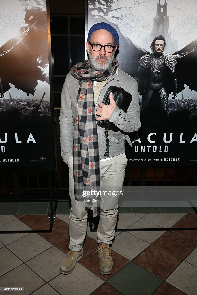 Michael Stipe attends 'Dracula Untold' New York Premiere at AMC Loews 34th Street 14 theater on October 6, 2014 in New York City.