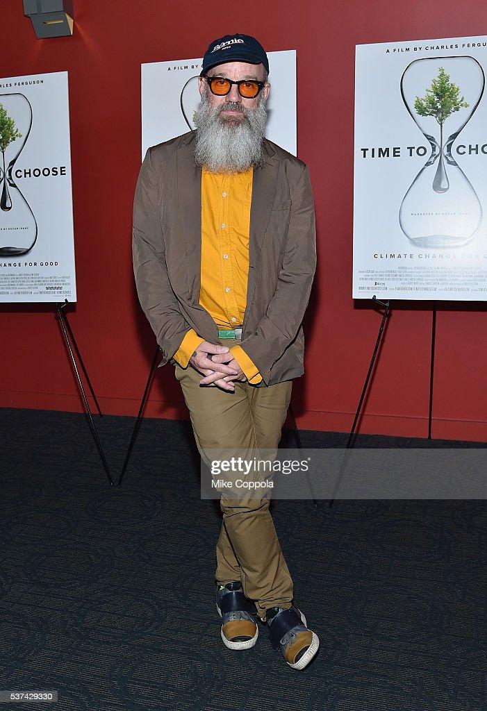 Michael Stipe attends the 'Time To Choose' New York screening at Landmark's Sunshine Cinema on June 1, 2016 in New York City.