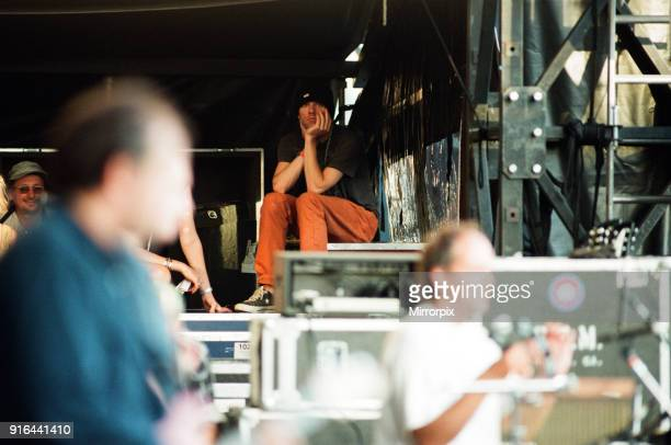Michael Stipe backstage REM in concert at the Galpharm Stadium 25th July 1995