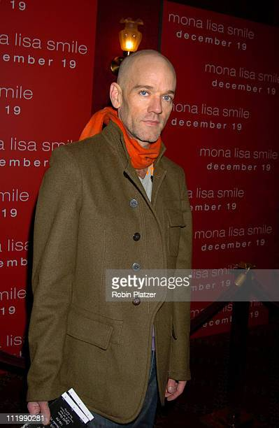 "Michael Stipe during ""Mona Lisa Smile"" New York Premiere at Ziegfeld Theater in New York City, New York, United States."