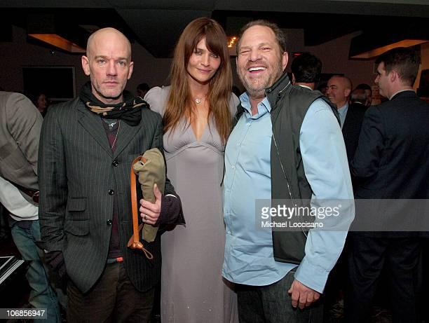 Michael Stipe Helena Christensen and Harvey Weinstein