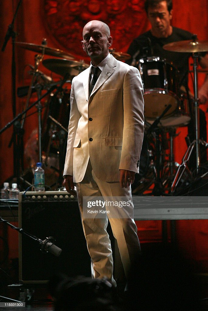 Michael Stipe of R.E.M. during 22nd Annual Rock and Roll Hall of Fame Induction Ceremony - Show at Waldorf Astoria in New York City, New York, United States.