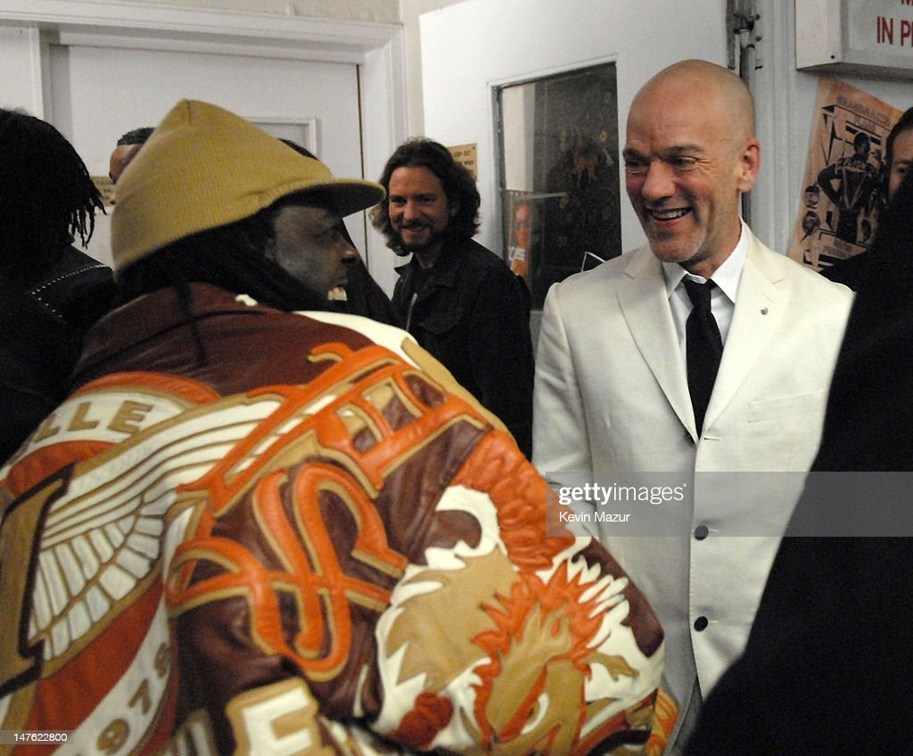 Michael Stipe of R.E.M., inductee (right), and guest *EXCLUSIVE*