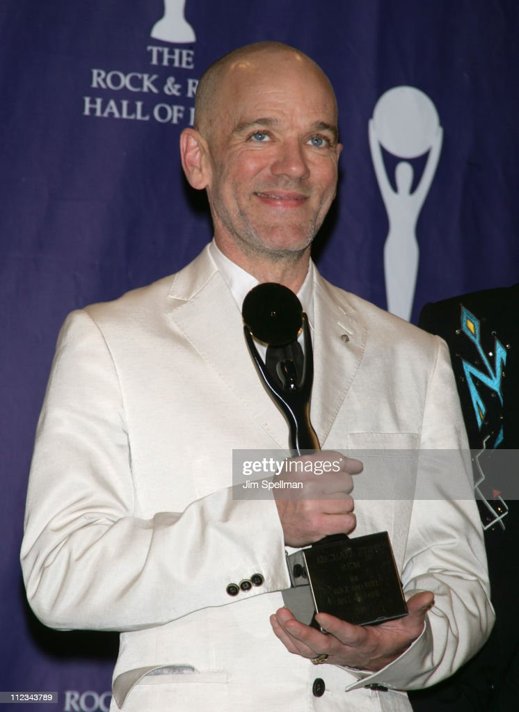 Michael Stipe of R.E.M., inductee during 22nd Annual Rock and Roll Hall of Fame Induction Ceremony - Press Room at Waldorf Astoria in New York City, New York, United States.