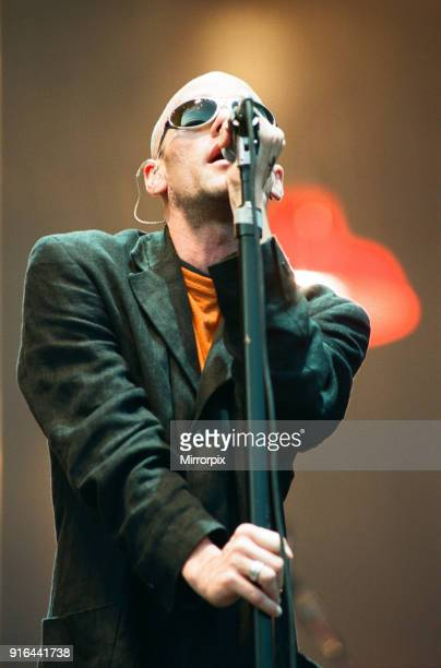 Michael Stipe. R.E.M. In concert at the Galpharm Stadium, 25th July 1995.