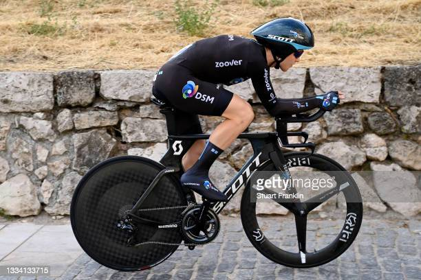 Michael Storer of Australia and Team DSM competes during the 76th Tour of Spain 2021, Stage 1 a 7,1km individual time trial from Burgos - Catedral de...