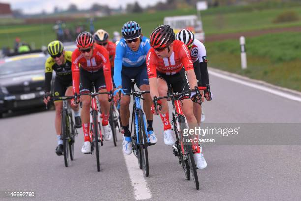 Michael Storer of Australia and Team Sunweb / Andrey Amador Bikkazakova of Costa Rica and Movistar Team / during the 73rd Tour de Romandie 2019 Stage...