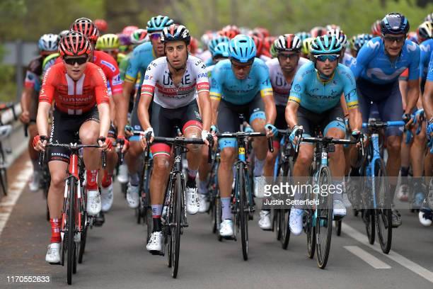 Michael Storer of Australia and Team Sunweb / Fabio Aru of Italy and UAE Team Emirates / Luis León Sánchez of Spain and Astana Pro Team / Manuele...