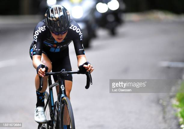 Michael Storer of Australia and Team Team DSM in the Breakaway during the 33rd Tour de l'Ain 2021, Stage 3 a 125km stage from Izernore to Lélex...