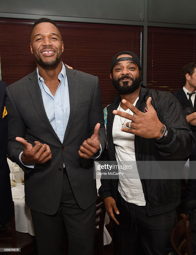 michael strahan and jim jones attend the baby buggy fatherhood news photo getty images 2