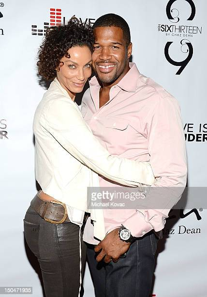 Michael Strahan and Nicole Murphy attend Chaz Dean's Birthday Party Benefiting Love Is Louder on August 18 2012 in Los Angeles California