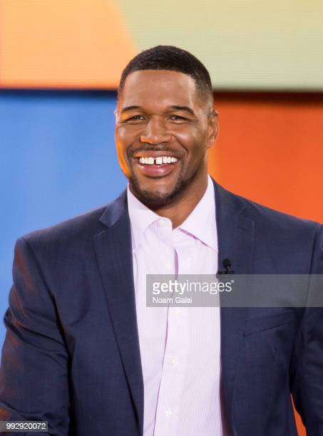 Michael Strahan attends ABC's 'Good Morning America' at Rumsey Playfield Central Park on July 6 2018 in New York City
