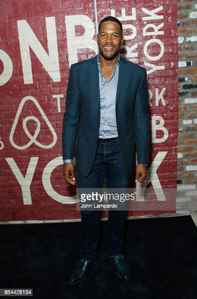 Michael Strahan attends Airbnb presents True York on September 26 2017 in New York City