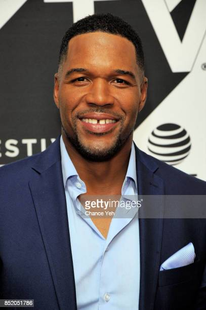 Michael Strahan attends Religion Of Sports premiere during Tribeca TV Festival at Cinepolis Chelsea on September 22 2017 in New York City