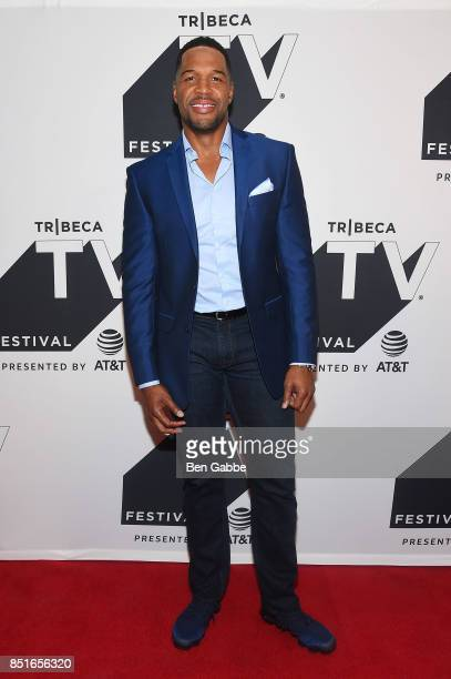Michael Strahan attends the Tribeca TV Festival season premiere of Religion of Sports at Cinepolis Chelsea on September 22 2017 in New York City